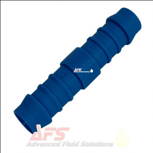 "12mm (1/2"") Straight Hose Joiner Tefen Equal Nylon Blue Connector Fitting"